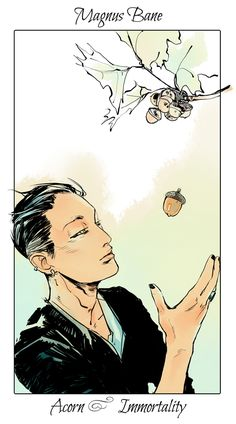 From the all wonderful Cassandra Jean ... magnus bane, the mortal instruments, flower card