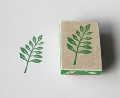 Hand carved leaf stamp, for card making, invitations, envelope decoration and placing cards.