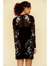 Alvina Embroidered Shift Dress