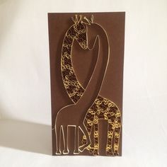 Paper Quilled Giraffe Love Card by ElinaQuills