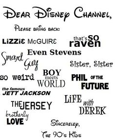 Disney Channel - Yes! My daughter is a baby and Disney channel was way better back then! I loved these shows! Life With Derek, Radios, Phil Of The Future, Future Boy, Future Children, Old Disney Channel, Zack E Cody, Zeina, Disney Shows