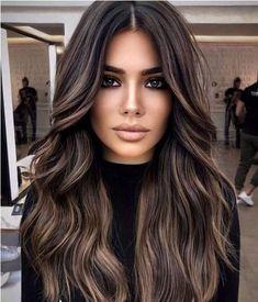 Brown Hair Balayage, Balayage Brunette, Hair Color Balayage, Hair Highlights, Hair Color Ideas For Brunettes Balayage, Summer Hair Color For Brunettes, Bayalage, Hair Color For Black Hair, Brown Hair Colors