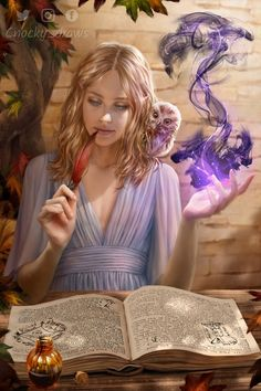 f Wizard Robes Magic Book casting Owl Familiar portrait female Ink Pen Tower urban City garden lg Dungeons And Dragons Characters, Dnd Characters, Fantasy Characters, Fantasy Art Women, Fantasy Girl, Dark Fantasy, Fantasy Character Design, Character Drawing, Character Design Inspiration