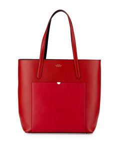 Panama North-South Tote Bag, Red