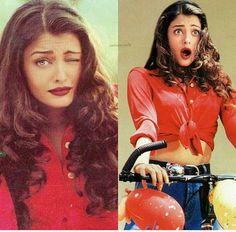Aishwarya Rai Vintage Bollywood, Bollywood Girls, Bollywood Actors, Bollywood Fashion, Actress Aishwarya Rai, Aishwarya Rai Bachchan, Beautiful Girl Image, Most Beautiful Women, Raveena Tandon Hot