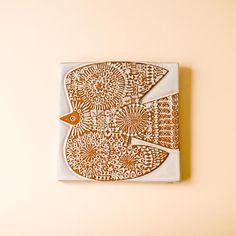 CERAMIC PLATE / BIRD B / WHITE - BIRDS' WORDS online store