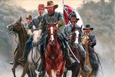 General James Longstreet and staff at Gettysburg