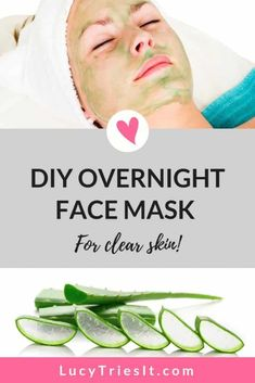 I love adding an overnight beauty treatment to my skincare routine. It's really great when you can wear a face mask at night to help beautify your skin while you sleep. This particular DIY mask is great if you have acne, or you just want to wake up with a Diy Skin Care, Skin Care Tips, Diy Overnight Face Mask, Beauty Hacks For Teens, Natural Hair Mask, How To Grow Eyebrows, Best Beauty Tips, Diy Beauty, Beauty Tricks