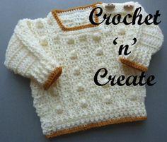 Free crochet pattern for bobble sweater http://crochetncreate.com/bobble-sweater-free-crochet-pattern/ #crochetncreate #crochet