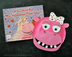I HEART CRAFTY THINGS: Paper Plate Hippopotamus with Valentine's Day Book