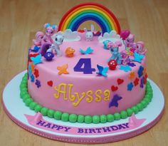 Cake, make decorations using Fimo clay and buy ponies