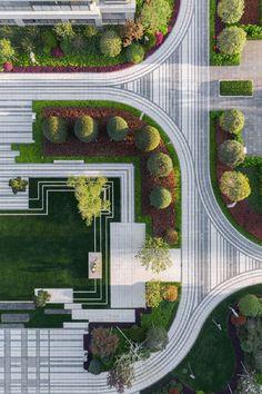 Landscape Plane, Landscape Architecture Model, Architecture Courtyard, Plans Architecture, Landscape Design Plans, Architecture Graphics, Urban Landscape, Landscaping Design, Landscaping Plants