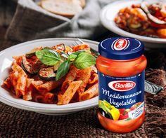 Barilla Mediterranean Vegetables No Italian dish is complete without fresh vegetables grown in Italy. In fact, most chefs fly in their vegetables straight from Italy, to make sure they get all the flavours right. Luckily, now even you can. This Barilla pasta sauce is made the traditional way with farm fresh Italian veggies and absolutely no preservatives.
