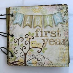 Baby Book - Scrapbook.com - Baby's 1st year mini album. Grandma would make this beautiful!