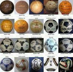 All FIFA World Cup Balls. 1930 - - Football the old ones look like vollayballs World Football, Soccer World, Play Soccer, Football Soccer, Football Boots, World Cup 2014, Fifa World Cup, Image Foot, Dfb Team