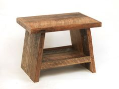 Reclaimed Wood Side Table Step stool Reclaimed Wood Table