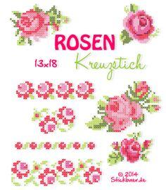 Rosenkreuzstich 13x18 Romantische Stickdateien für Eure Stickmaschine Cute machine embroidery designs