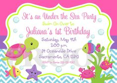 Printable Under the Sea Invitations for Girls by ciao bambino, $12.00