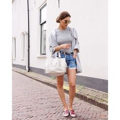 @NeginMirsalehi's outfit is the perfect mix of basics- it's laid-back, yet luxurious just as she says. // Check out Negin's awesome blog and shop her look on @thetroveapp! Link in profile! #TroveStyle
