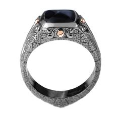 Stephen Webster 'London Calling' White Sterling Silver Onyx Ring (Stephen Webster Sterling Silver Onyx Ring 8.75), Men's
