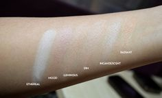 Hourglass Ambient Lighting Powder - Swatches interested in mood, dim, incandescent