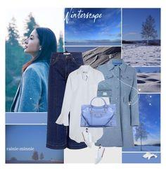 """Winterscape:Hokkaido"" by rainie-minnie ❤ liked on Polyvore featuring 10 Crosby Derek Lam, Love Moschino, Valentino, Balenciaga, Herschel Supply Co. and Tommy Hilfiger"