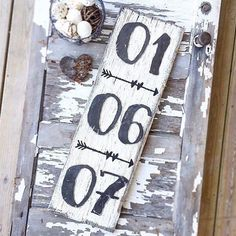 "Rustic Date Sign  metal numbers with painted arrows on a 12"" x 36"" piece of reclaimed barnwood   we have  of these available in our etsy shop link in bio  #anniversary #anniversarydate #weddingdecor #wedding #weddingdate #danishandmadewedding #etsy #etsyshop #etsyseller #maker #barnwood #barnwoodsign #barnwooddecor #metal #decor #rusticfarmhouse #handmade #handmadewithlove #arrow #love #lovemymakers #lovehandmade #handmadecurator #farmhouse #farmhousedecor #farmhousestyle #farmstyle…"