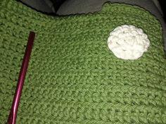 Green washcloth w/spots
