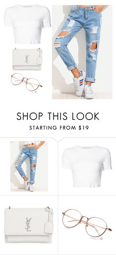 """""""BROCOLLI"""" by xoxotiffvni on Polyvore featuring Rosetta Getty and Yves Saint Laurent"""