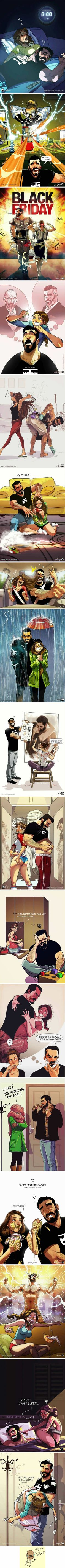 Artist Illustrates Everyday Life With His Wife In Comics