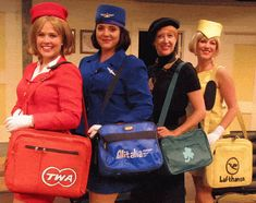 Vintage Flight Bags - Retro Travel Bags with Airline Logos