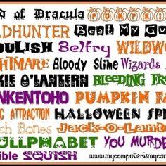 Art Halloween fonts halloween