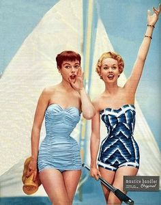 Next summer, while all the other girls are wearing skimpy bikinis, I am going to be wearing a sexy 50s one piece because I just love them so much.