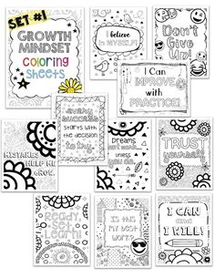 Growth Mindset Classroom, Growth Mindset Activities, Growth Mindset Posters, Growth Mindset Lessons, Growth Mindset Display, Growth Mindset For Kids, Emoji Coloring Pages, Free Coloring Pages, Coloring Sheets