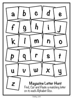 FREE! Magazine Letter Hunt Worksheets, Literacy Center