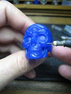 Skull ring (tutorial part 8) Wax Carving Stage by flintlockprivateer.deviantart.com on @deviantART