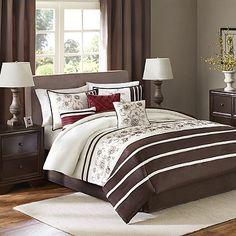Madison Park Kathy 7-Piece Comforter Set in Brown