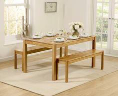 Click The Image To View Our Gallery Of Oxford Solid Oak 150cm Dining Table With