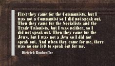 bonhoeffer quotes | did not speak out - Dietrich Bonhoeffer