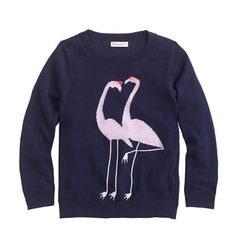 J.Crew - Girls' flamingo sweater