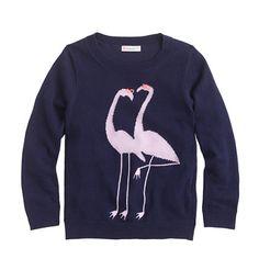 J.Crew - Girls' flamingo sweater
