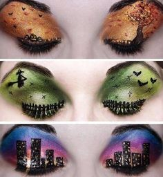 Amazing Halloween eye make up Pinned on behalf of Pink Pad, the women's health mobile app with the built-in community Crazy Eye Makeup, Eye Makeup Art, Eye Art, Beauty Makeup, Hair Beauty, Eyeshadow Makeup, Eyeshadow Ideas, Halloween Eye Makeup, Maquillage Halloween