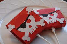 Pirate Favors Lollipop Cover Pirate Theme Pirate by GiggleBees, $10.00