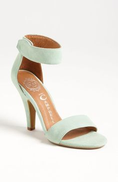 mint suede sandals...love