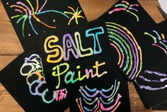 I m always trying to think of fun art activities that my children will enjoy Salt paint is super easy and perfect for children of any age using materials you most likely already have at home Salt Painting, Painting For Kids, Art For Kids, Crafts For Kids, Arts And Crafts, Diy Crafts, Cooking With Kids, Fun Cooking, Cooking Videos