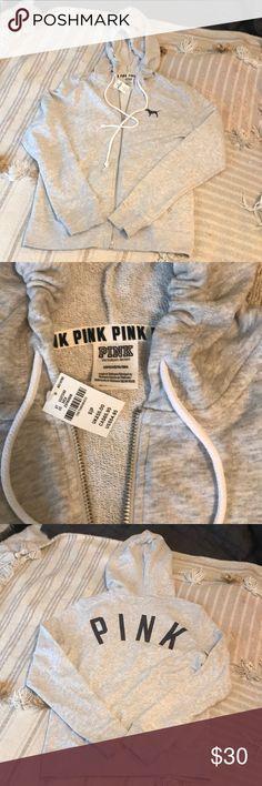 NWT PINK full zip hoodie NWT pink full zip hoodie PINK Victoria's Secret Tops Sweatshirts & Hoodies