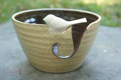 This bowl is made to order and will take a minimum of 18 days. Get organized for that winter knitting or crocheting with the Basic Birdie Yarn Bowl