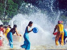 The Water Splashing Festival is a traditional festival for the Dai people to send off the old and ring in the new, and to wish each other well. Songkran Thailand, Thailand Festivals, Songkran Festival, Coral, What Image, Festivals Around The World, International Festival, Thai Art, Xiamen