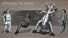 Wilson Kime, Gore Burnelli, Prime Motile, The Cat (Pandora's Star)