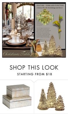 """""""Christmas Table"""" by eco-art ❤ liked on Polyvore featuring interior, interiors, interior design, home, home decor, interior decorating, Order Home Collection and Kathy Ireland"""